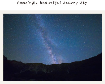 Amezingly beautiful starry sky