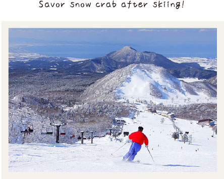 Savor snow crab after skiing!