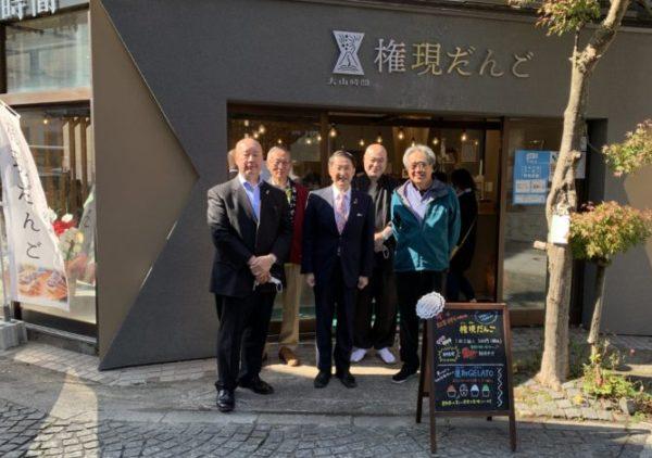大山時間Shop「だんごたる美味さ!」平井知事にご来店いただきました!